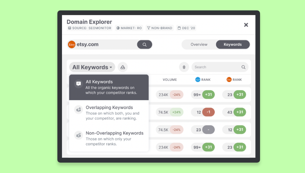 SEO proposal - domain explorer