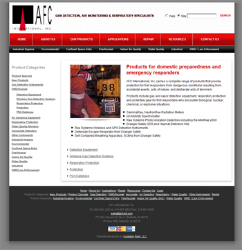 AFC International (content management system / ecommerce development)