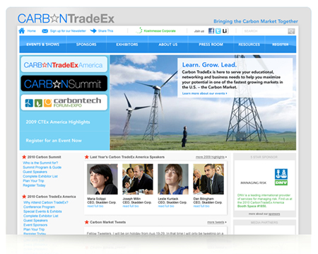 Carbon TradeEx Logo, Brand Identity, Messaging, Website Development