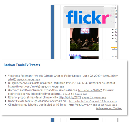 Social Media: Twitter and Flickr