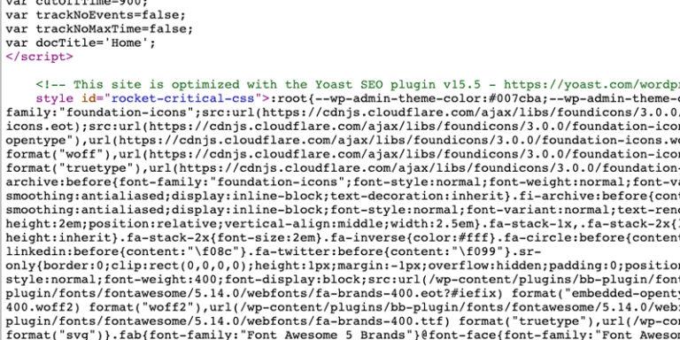 Core Web Vitals report elements - Inlining CSS