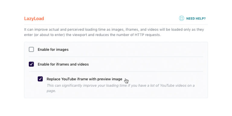 Core Web Vitals report elements - Lazy load your videos