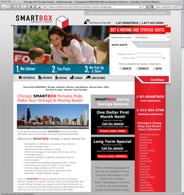 Smartbox Portable Storage - Chicago (Joomla Content Management System / Search Marketing)