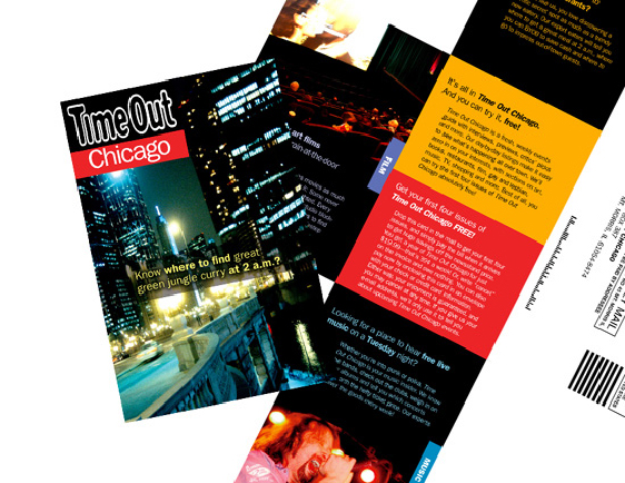 Time Out Chicago (New magazine launch - Direct Mail)