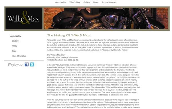 Alternate Corporate Website Design
