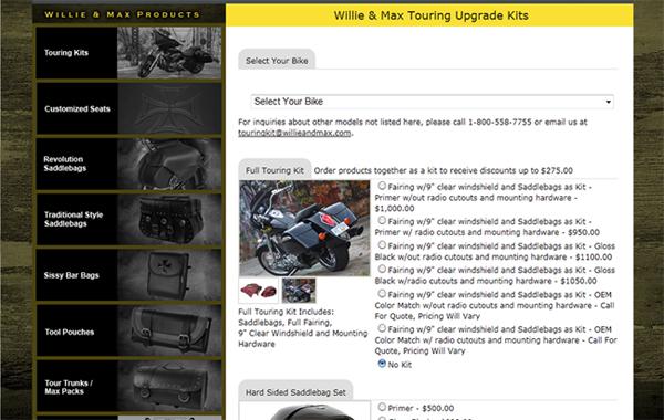 Custom Programming for Touring Kit Selector