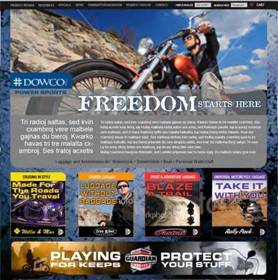Dowco Power Sports - Branding, Messaging, Ecommerce development, Content Management System developme