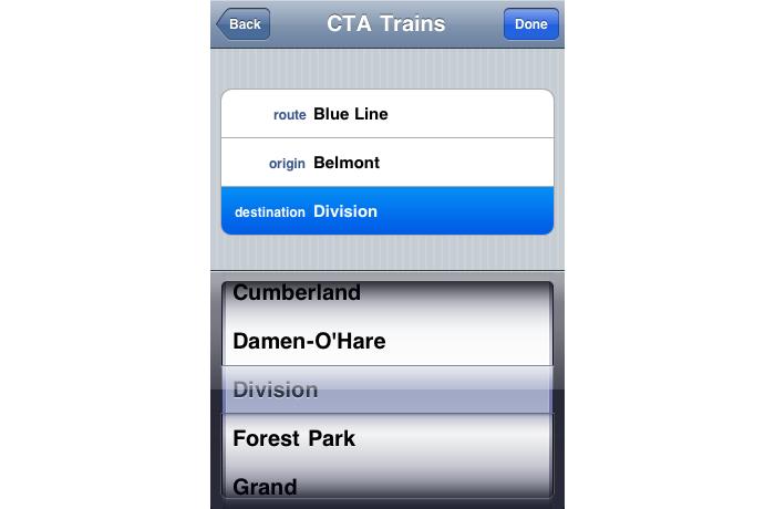 RTA Trip Planner Chicago - Train Data Visualizaton