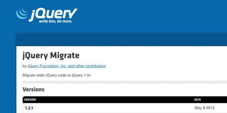 Core Web Vitals report elements - Remove jQuery Migrate