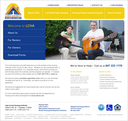 Lake County Housing Authority (multi-lingual content management system)